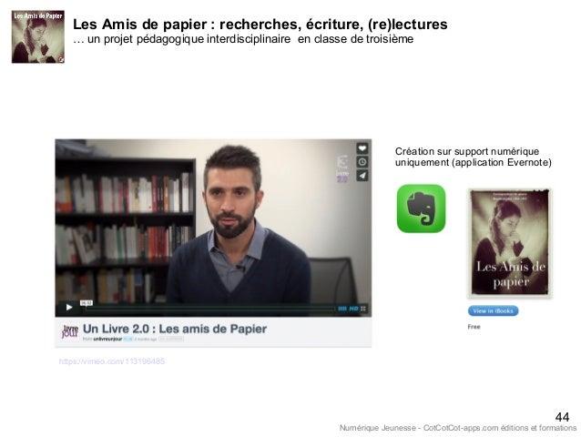 Les Amis de papier : recherches, écriture, (re)lectures … un projet pédagogique interdisciplinaire en classe de troisième ...