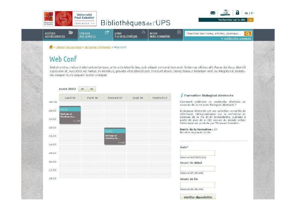 L'intégration des ressources                                   électroniques dans un site web  C) Les 3 types d'intégratio...