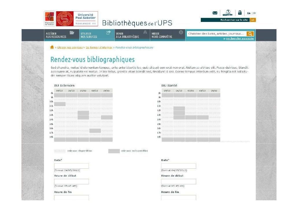Exemple d' iframe: le site de la BU                                                  Angers03/04/2012   Les aspects techni...