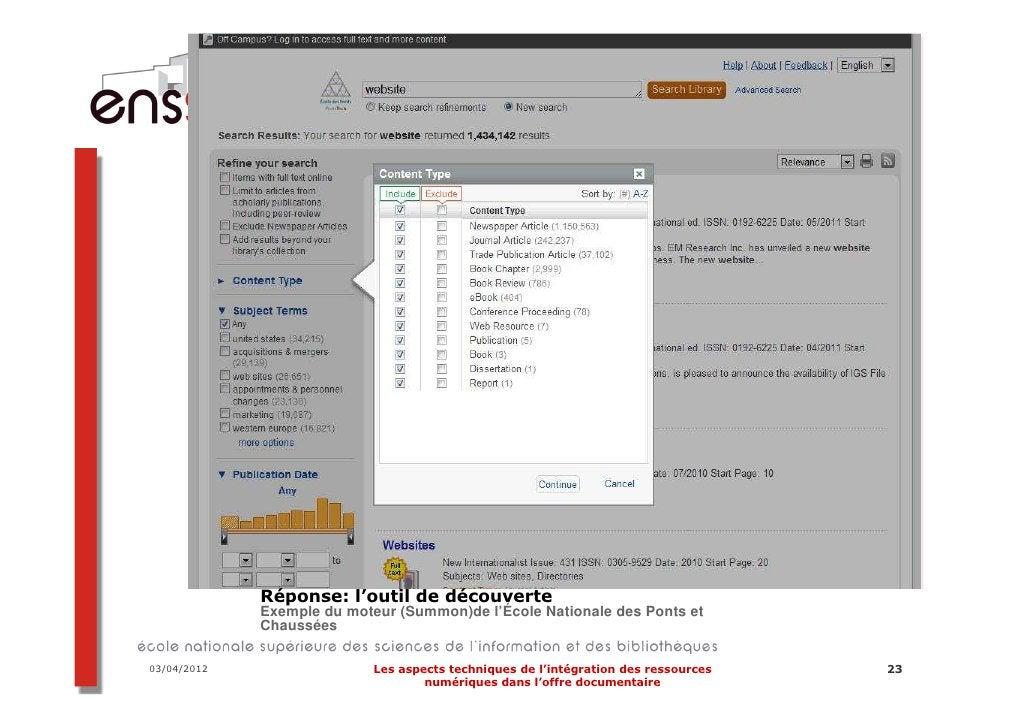 Intégration au cube…  Exemple d'intégration graphique sur le site    du SICD de Toulouse    Application de la CSS du site ...
