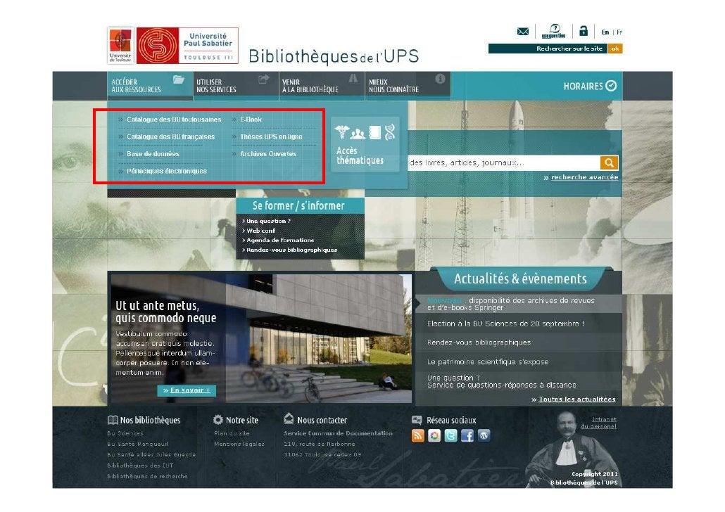 28/03/2012   Les aspects techniques de l'intégration des ressources   7                     numériques dans l'offre docume...