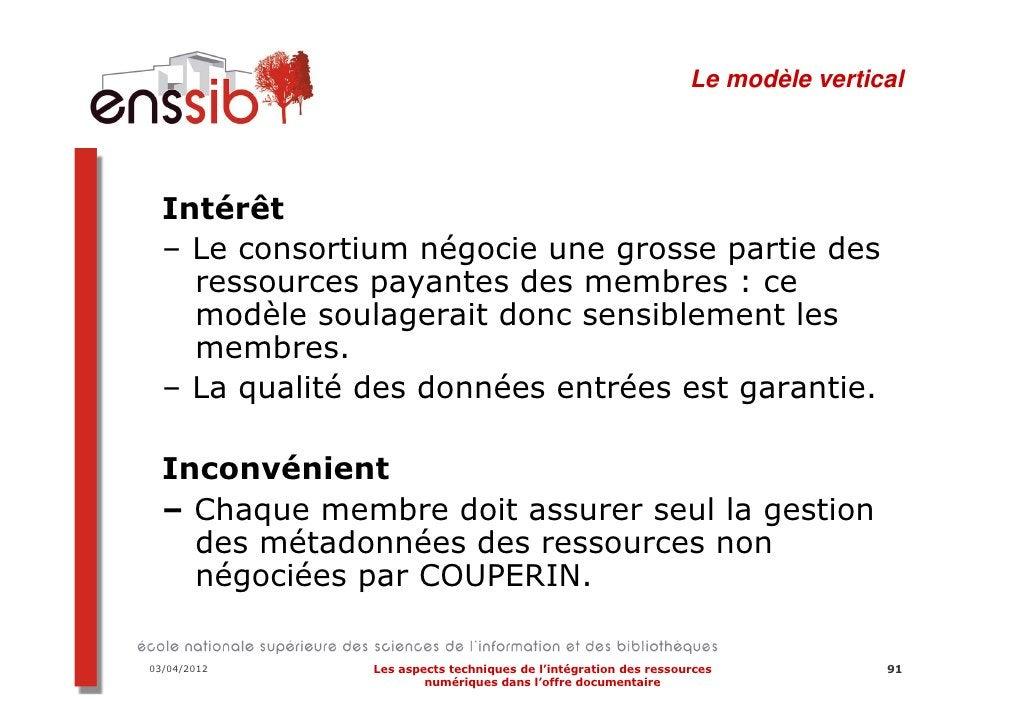 Les raisons de l'ajournement du projet…28/03/2012     Les aspects techniques de l'intégration des ressources   110        ...