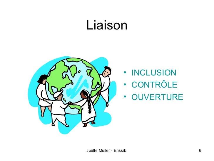 Liaison                    • INCLUSION                    • CONTRÔLE                    • OUVERTUREJoëlle Muller - Enssib ...