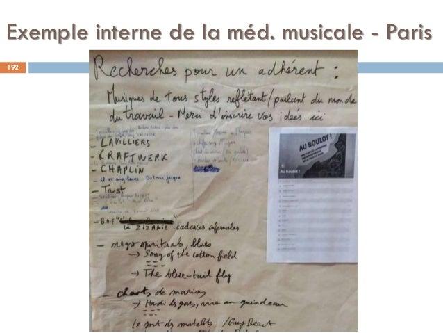 Exemple interne de la méd. musicale - Paris 192