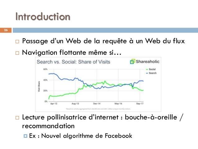 Introduction  Passage d'un Web de la requête à un Web du flux  Navigation flottante même si…  Lecture pollinisatrice d'...