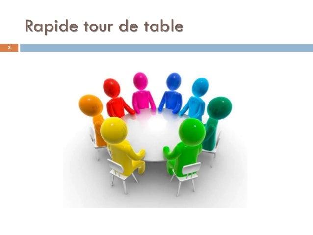 Rapide tour de table 3