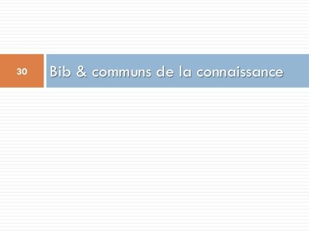 Bib & communs de la connaissance30