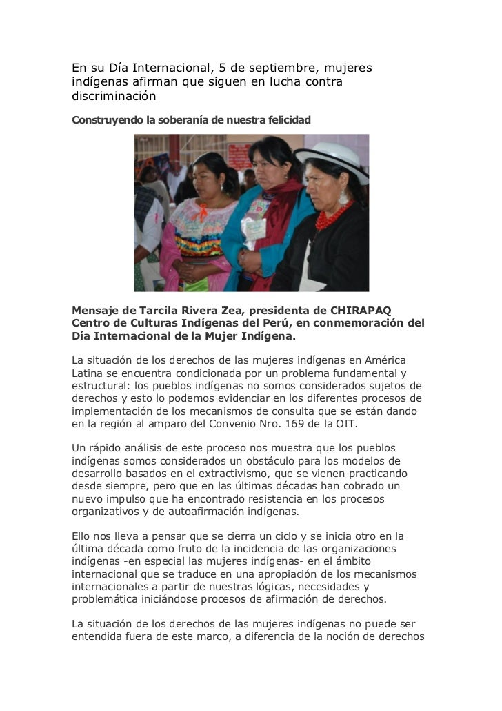 En su Día Internacional, 5 de septiembre, mujeresindígenas afirman que siguen en lucha contradiscriminaciónConstruyendo la...