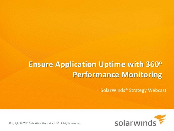 Ensure Application Uptime with 360o                            Performance Monitoring                                     ...