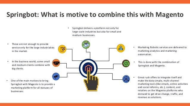 Springbot: What is motive to combine this with Magento • One of the main motives to bring Springbot with Magento is to pro...