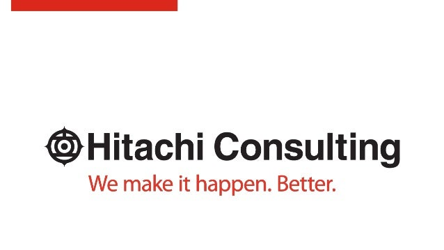 hitachi consulting logo. lessons learned; 13. hitachi consulting logo