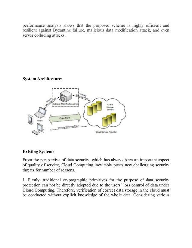 ensuring data storage security in cloud computing thesis