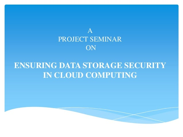 Cloud Computing Seminar and PPT with pdf report