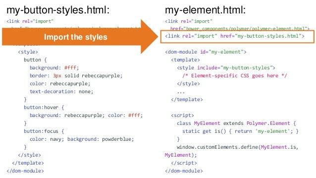 """Using Web Components • Import the component - <link rel=""""import"""" href=""""https://your-web-component- cdn.com/iron-pages/iron..."""