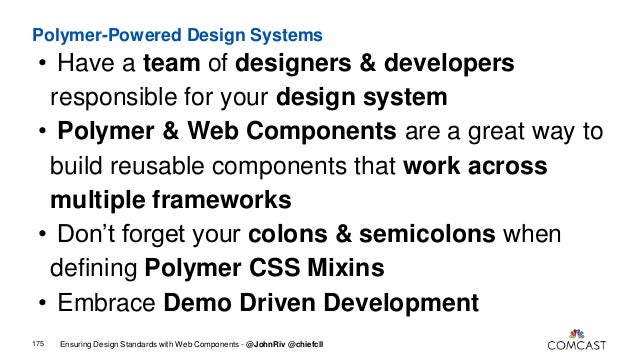 Ensuring Design Standards with Web Components