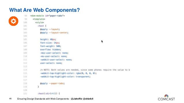Building Your Design System with Polymer CSS IS AWESOME 60 Source: https://philipwalton.github.io/talks/2015-10-26/#7 • Ma...