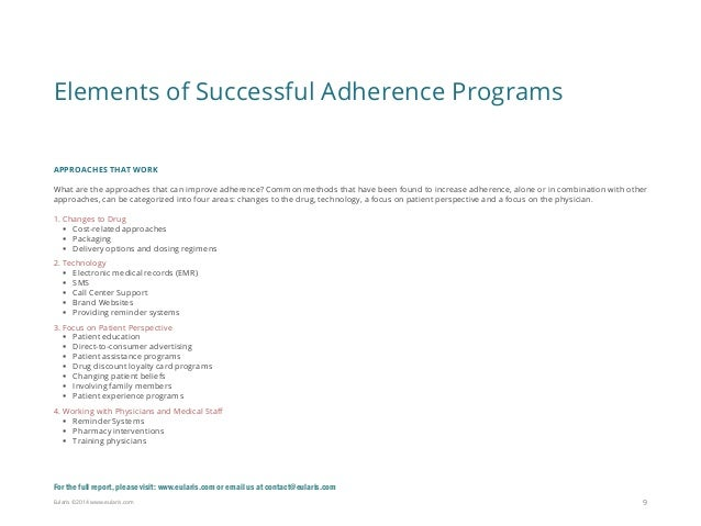 Ensuring Profitable Patient Adherence Programs Mini