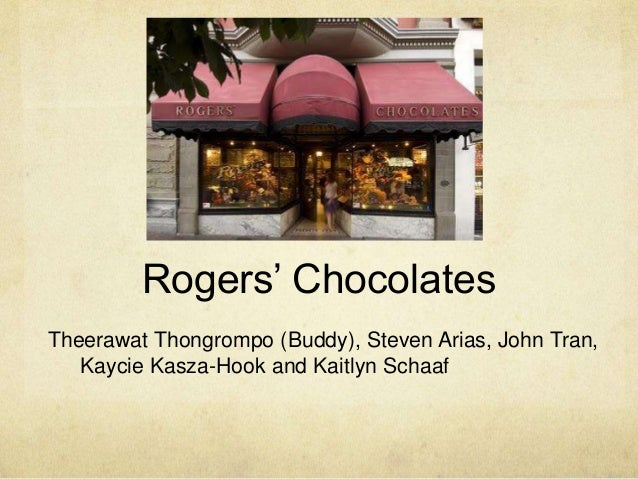 rogers chocolate case study This is case study solution about rogers chocolate by threeinvestigators.