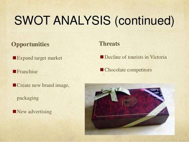 swot analysis for handmade chocolates Looking for the best nestl sa swot analysis click here and find out nestl 's strengths, weaknesses, opportunities and threats.