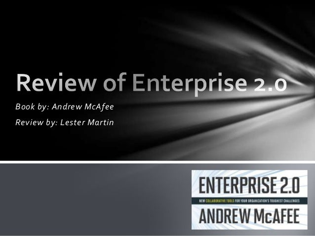 Book by: Andrew McAfeeReview by: Lester Martin