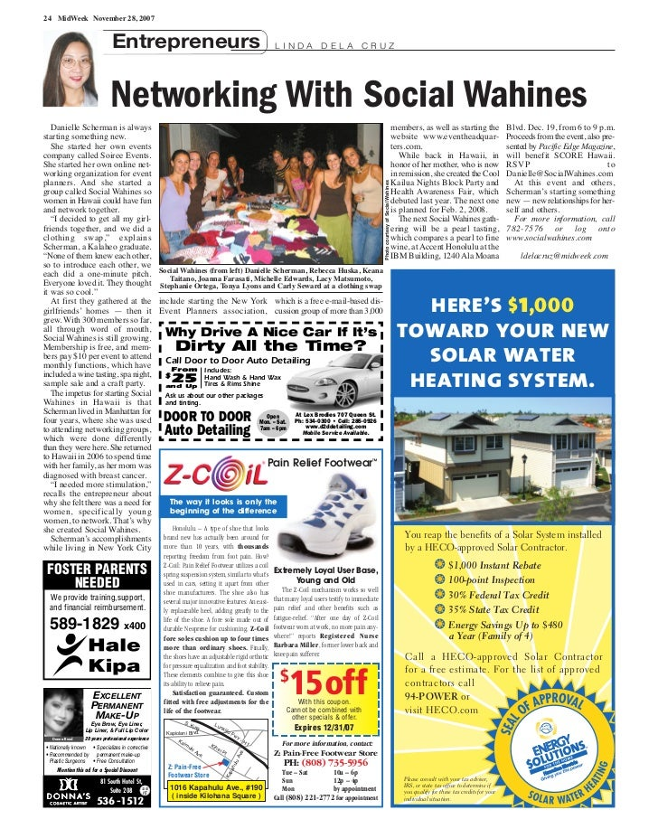 24 MidWeek November 28, 2007                              Entrepreneurs                                                   ...