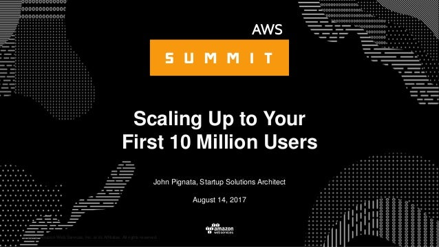 © 2015, Amazon Web Services, Inc. or its Affiliates. All rights reserved. John Pignata, Startup Solutions Architect August...