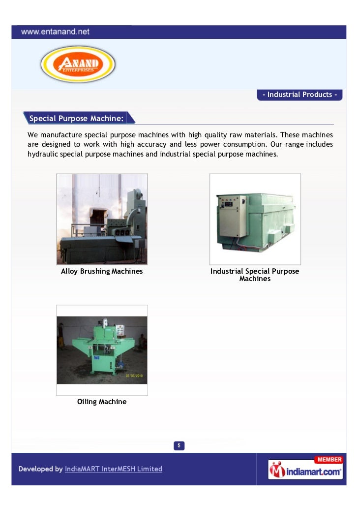 - Industrial Products -Special Purpose Machine:We manufacture special purpose machines with high quality raw materials. Th...