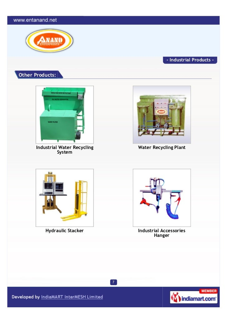 - Industrial Products -Other Products:      Industrial Water Recycling   Water Recycling Plant                System      ...