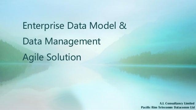 Enterprise Data Model & Data Management Agile Solution A.I. Consultancy Limited Pacific Rim Telecomm Datacomm Ltd