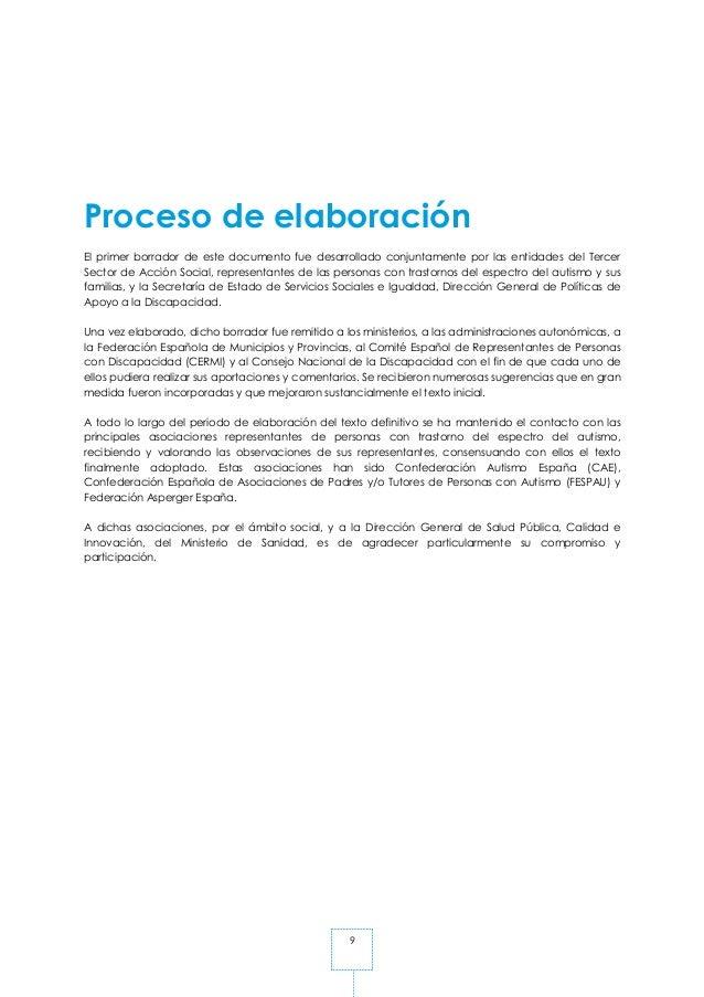 9 Proceso de elaboración El primer borrador de este documento fue desarrollado conjuntamente por las entidades del Tercer ...