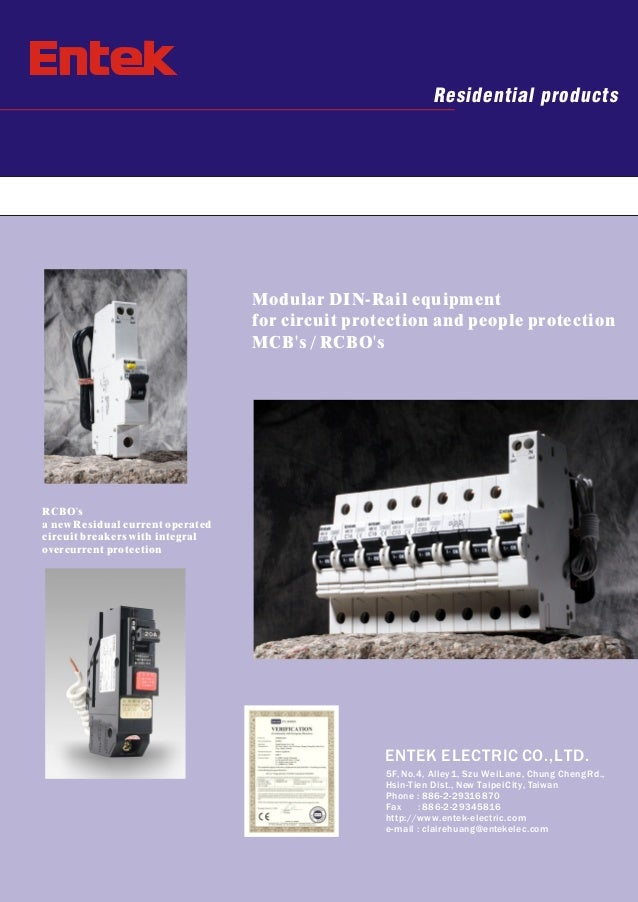 Residential products  Modular DIN-Rail equipment for circuit protection and people protection MCB's / RCBO's  RCBO's a new...