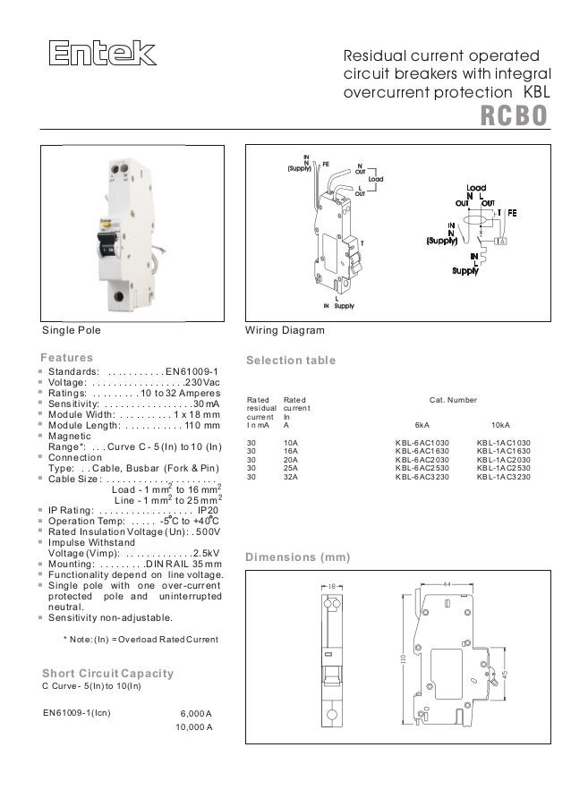 Entek Miniature Circuit Breakers (MCBs) and RCBOs (RCD/ MCB) Slide 2