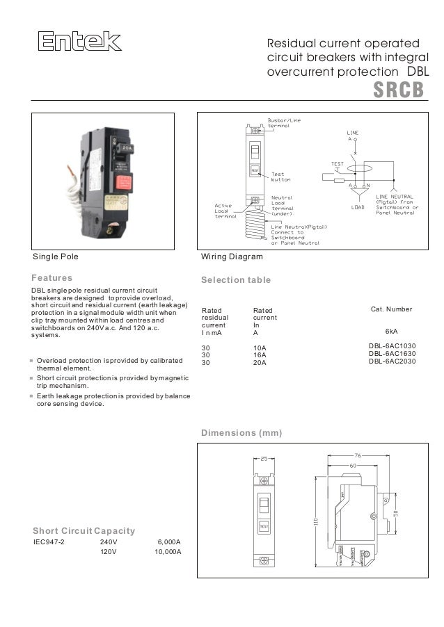 Entek miniature circuit breakers (mcbs) and rcbos (rcd mcb) on rcd mcb wiring diagram Explain Residual Current Device Detect Current Device
