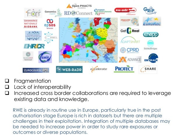 q Fragmentation q Lack of interoperability q Increased cross border collaborations are required to leverage existing da...