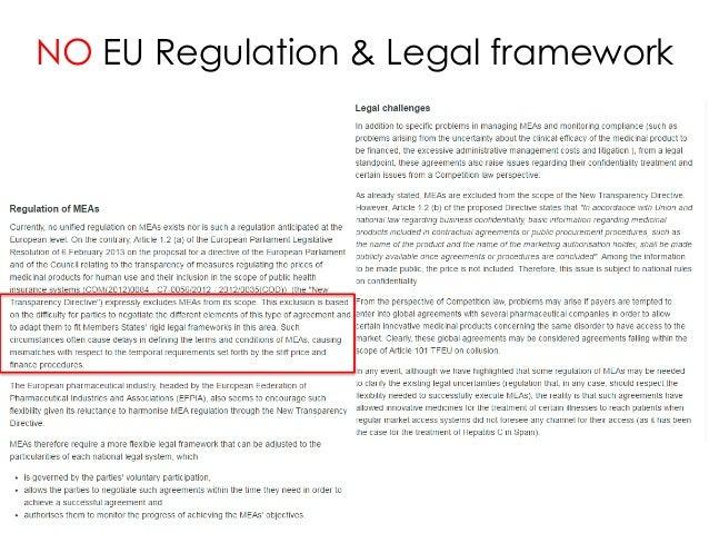 NO EU Regulation & Legal framework