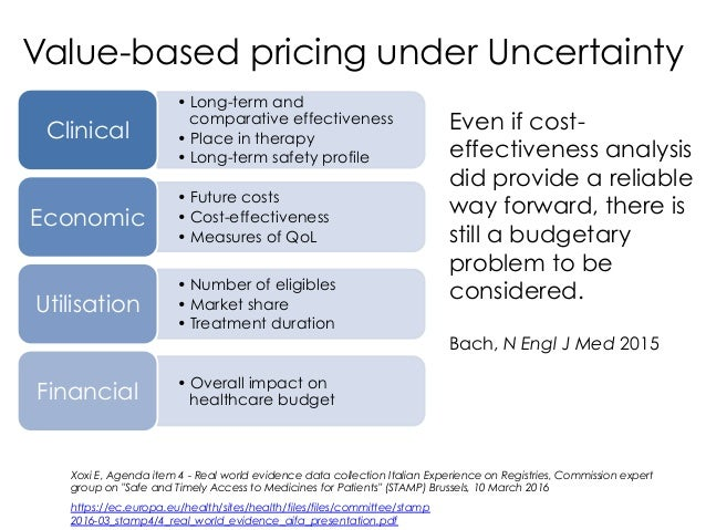 •Long-term and comparative effectiveness •Place in therapy •Long-term safety profile Clinical •Future costs •Cost-eff...