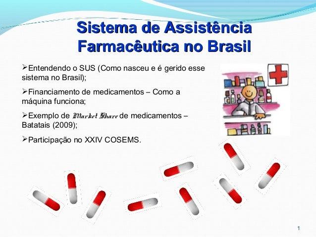 1 Sistema de AssistênciaSistema de Assistência Farmacêutica no BrasilFarmacêutica no Brasil Entendendo o SUS (Como nasceu...