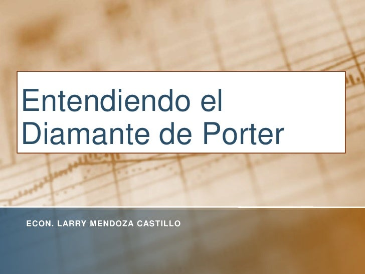 Entendiendo el Diamante de Porter<br />Econ. Larry mendoza castillo<br />