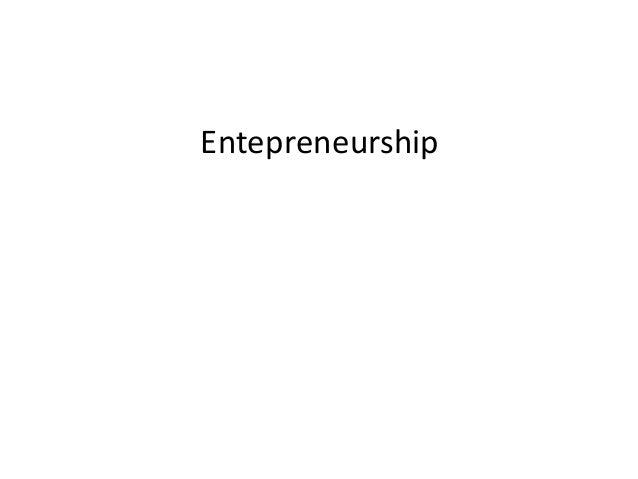 Entepreneurship
