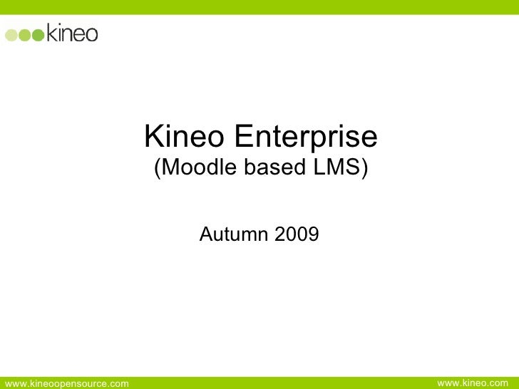 Moodle in the Enterprise Overview