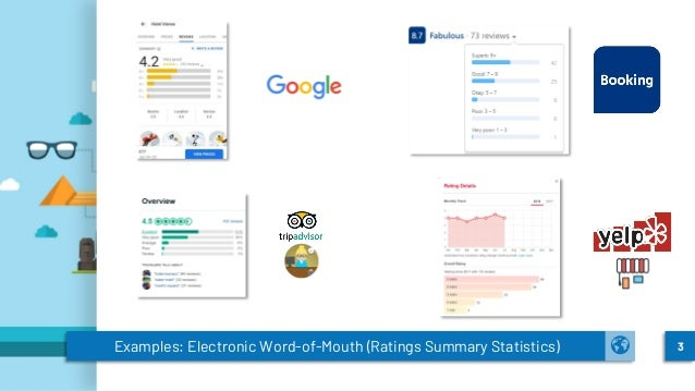 Examples: Electronic Word-of-Mouth (Ratings Summary Statistics) 3