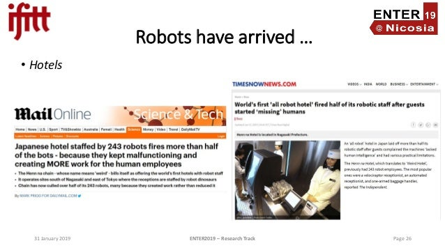 Robots in Tourism – Preliminary Results from a Global Study