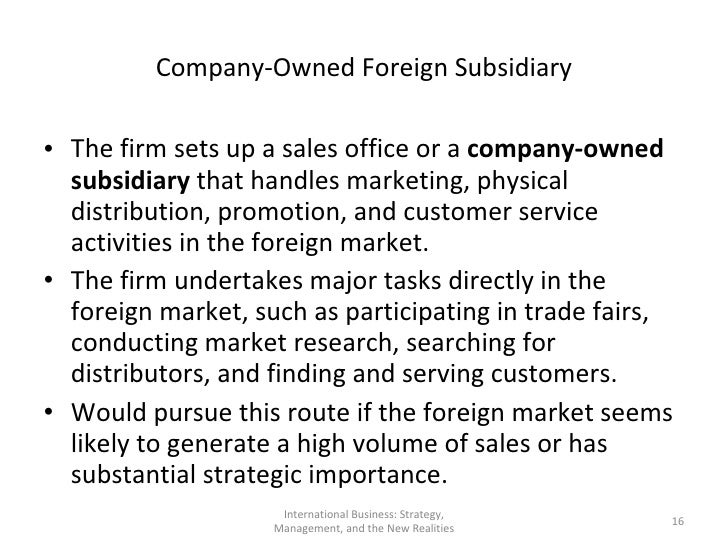 foreign subsidiary definition