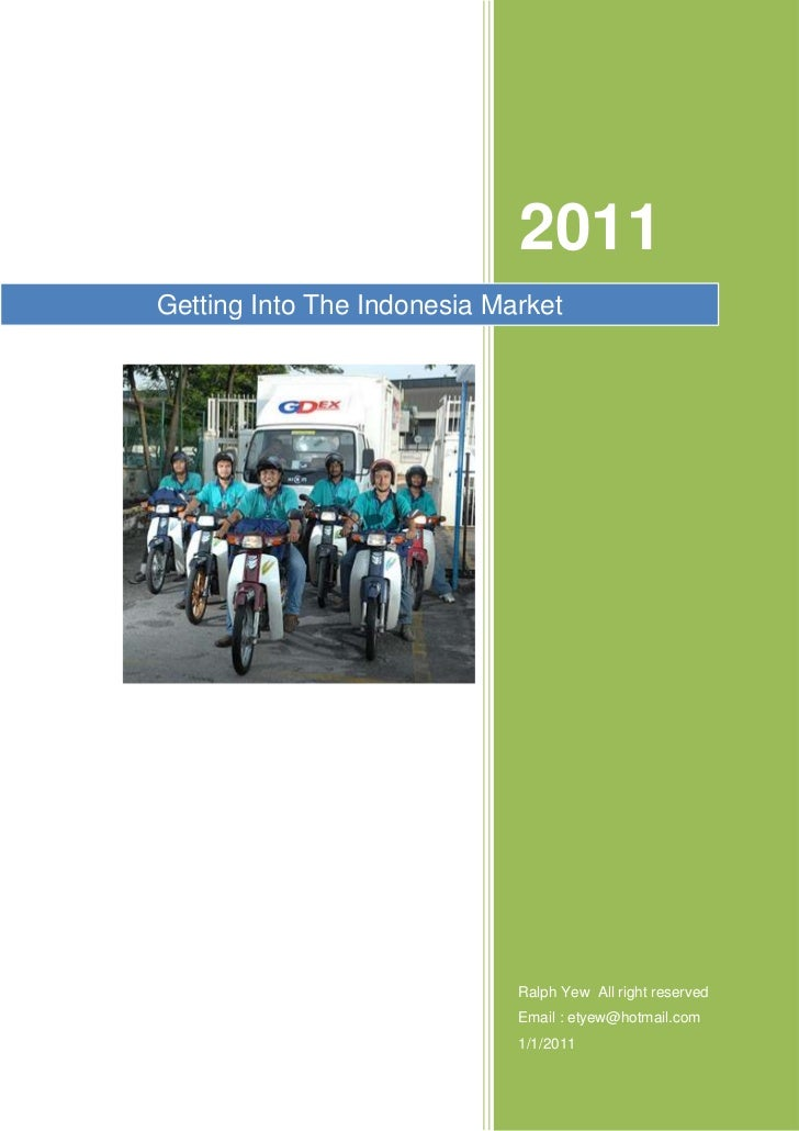 International Business in Indonesia market