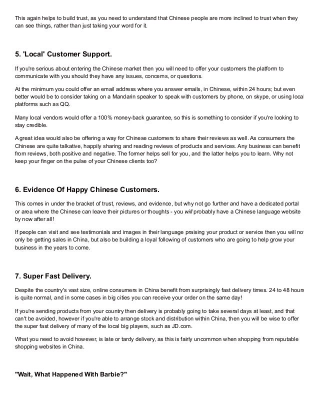 Entering the chinese market: 7 things chinese consumers want