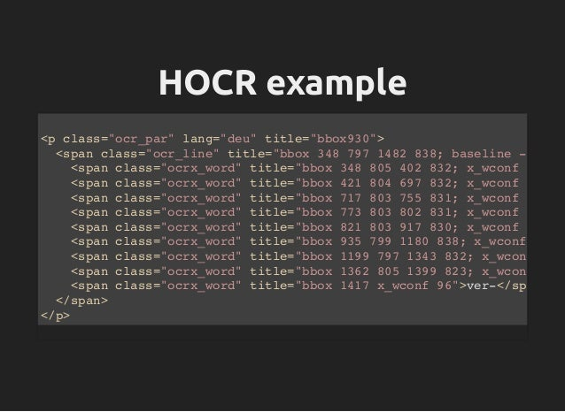 Entering the Fourth Dimension of OCR with Tesseract - Talk from Voxxe…