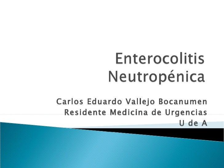Carlos Eduardo Vallejo Bocanumen Residente Medicina de Urgencias U de A