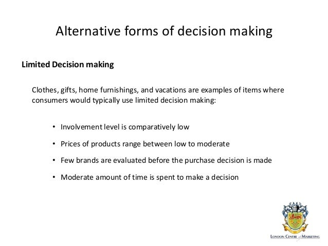 consumer bahavior  decision making process
