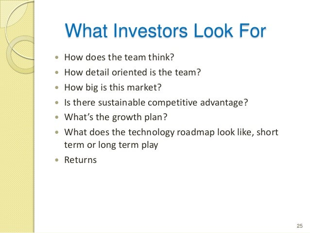 BUSINESS PLAN FOR INVESTORS