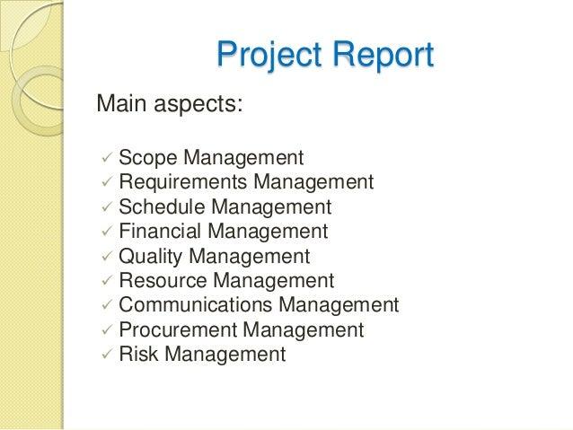 Preparing management reports